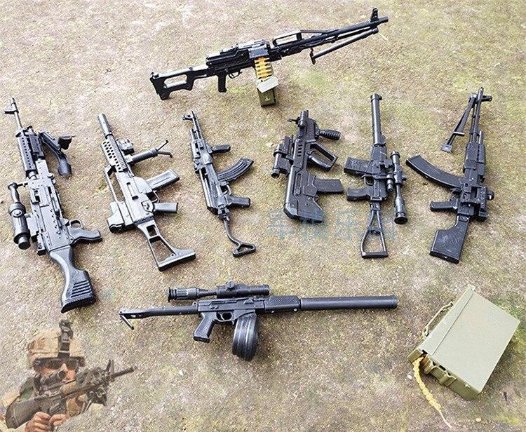 1:6 сборочный пистолет Модель четвертого поколения 1/6, светильник для штурмовой винтовки, пистолет AK47, оружие для солдат, пластиковая сборка, игрушки для мальчиков