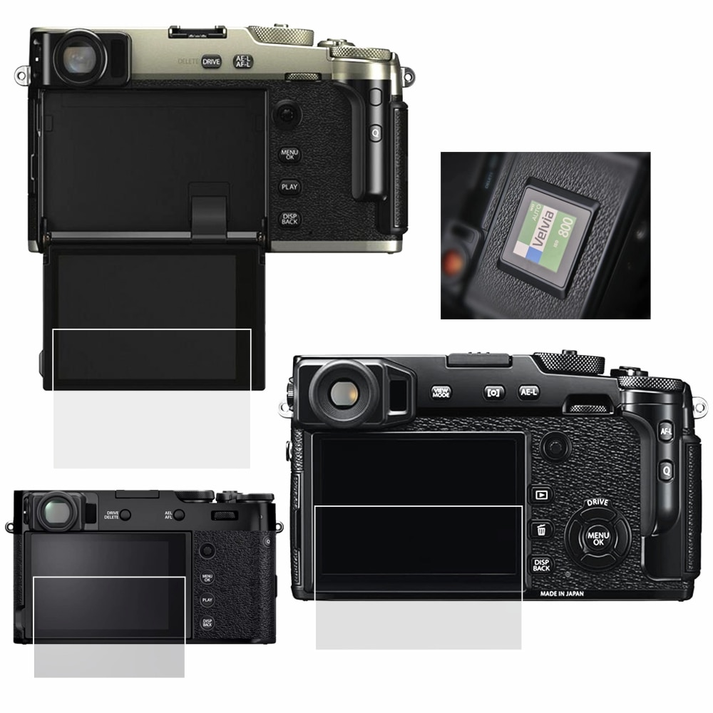 Protector de pantalla LCD de vidrio templado autoadhesivo para cámara Fujifilm Fuji X-pro2 X-pro3 XPRO2 XPRO3 X100V