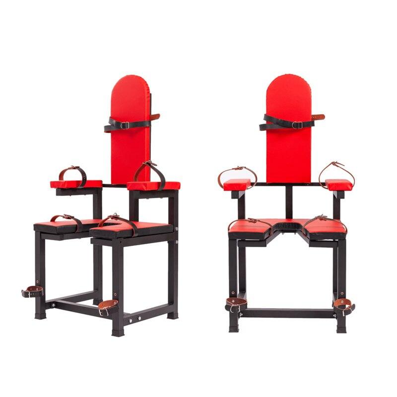 BDSM كرسي للأوضاع الجنسية الأثاث عبودية تعديل الدعائم أصفاد أدوات الجنس للأزواج Sextoys منتجات الكبار الإناث الاستمناء مجموعات
