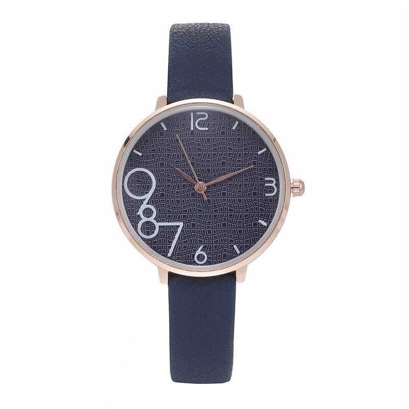 Womens Watches New Retro Female Quartz Watch Casual Fine Leather Strap Digital Ladies Wrist Watch Fo