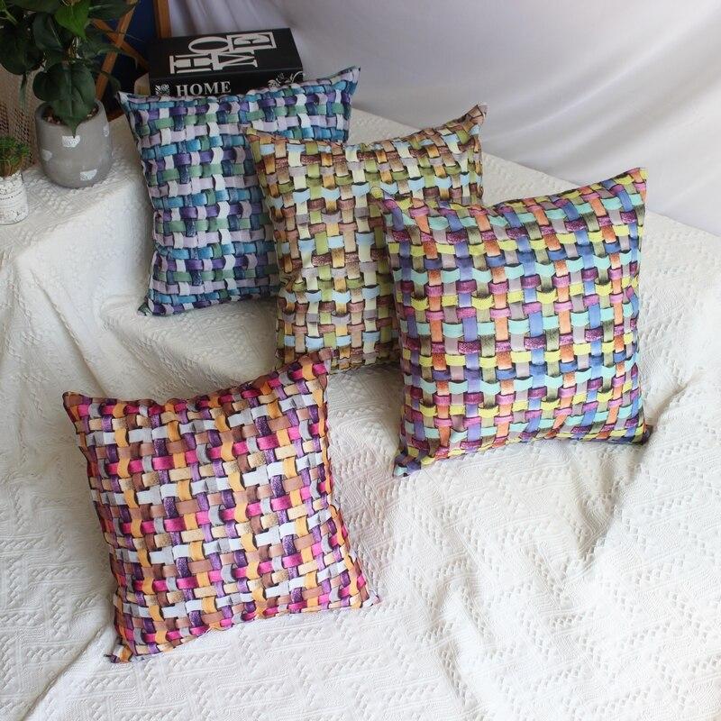 Funda de almohada con estampado doble efecto 3D para decoración del hogar