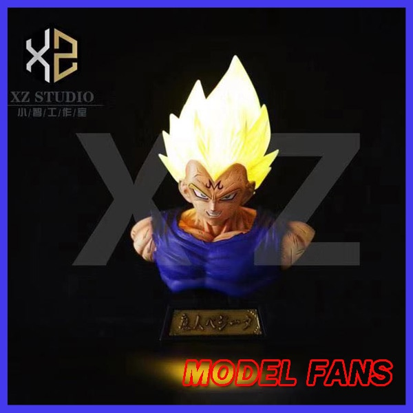 MODEL FANS original XZ dragon ball Z Super Saiyan evil vegeta bust contain led light gk resin statue figure toy for collection
