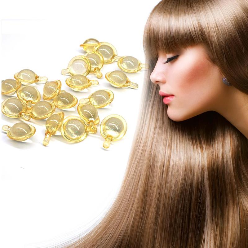 10pcs/Lot Vitamin Hair Capsules Treatment Pro Keratin Complex Oil Smooth Hair Capsules Serum Oil Treatment Anti Hair Loss