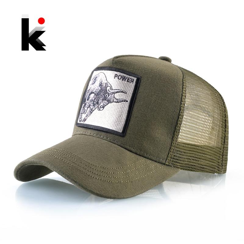Baseball Caps Men Women Snapback Hip Hop Cap With Fashion Animals Embroidery Summer Breathable Mesh Trucker Caps Streetwear Bone