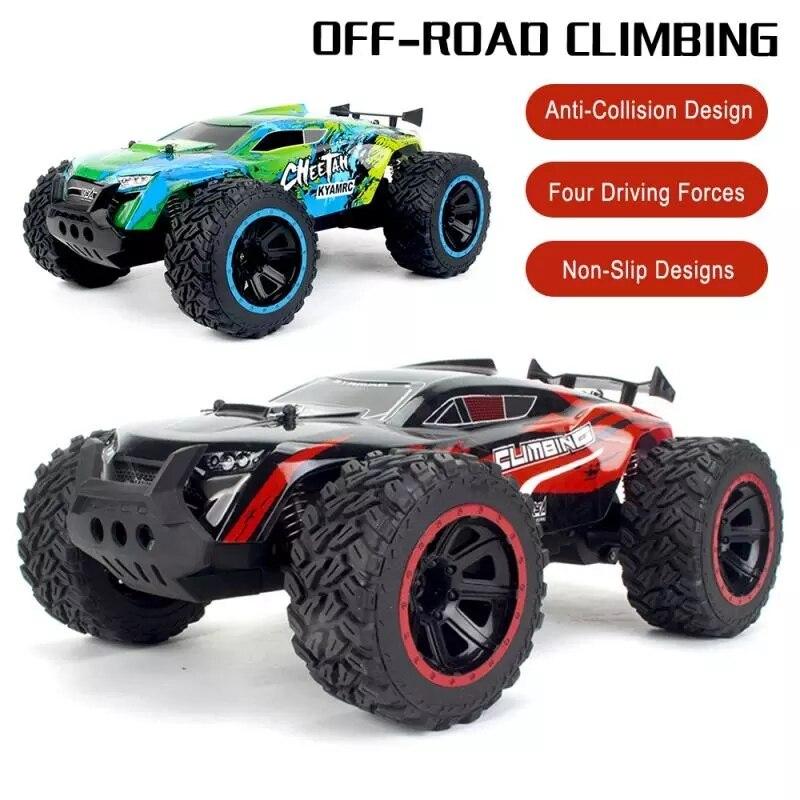 Carro de alta velocidade rc controle remoto fora da estrada que compete carros veículo 2.4ghz esteiras monstro caminhão elétrico brinquedo do carro presente para o menino