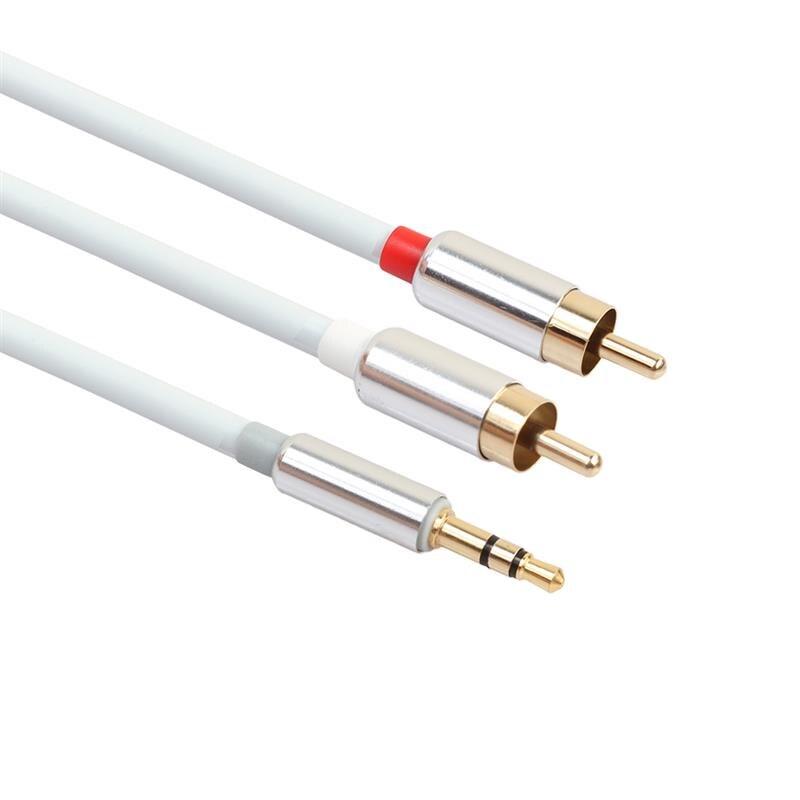 Estéreo HiFi Cable RCA de 3,5mm a 2RCA de Audio Cable AUX RCA 3,5 Y Jack divisor para amplificadores de Audio RCA Cable para cine en casa