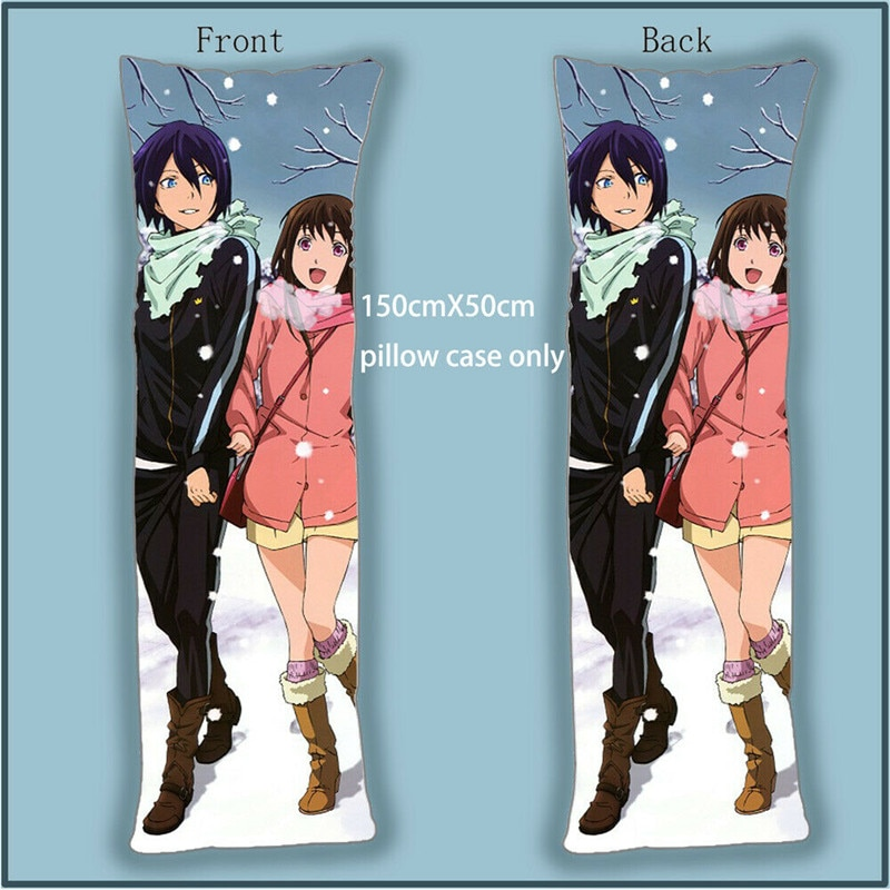 Funda de almohada Dakimakura, funda de almohada Noragami Anime YATO Iki Hiyori Yukine, fundas de almohada para decoración del hogar