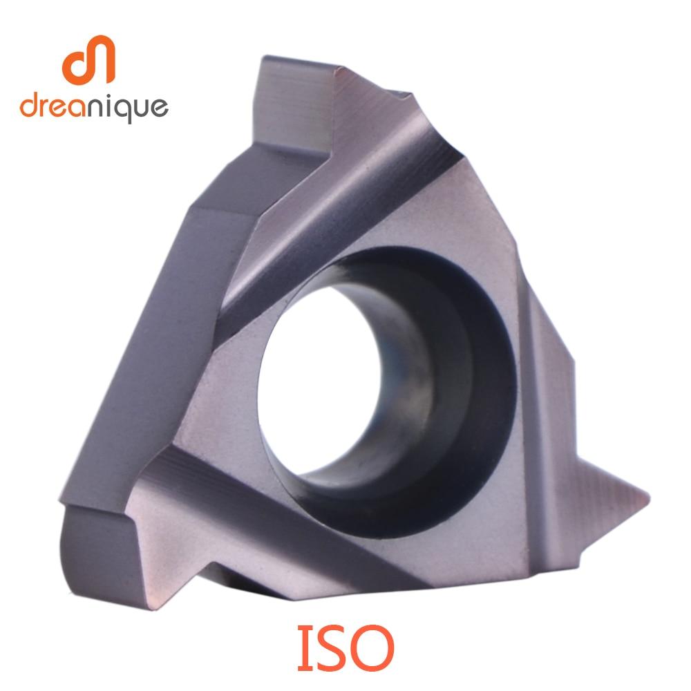 Купить с кэшбэком ISO Carbide Insert thread Turning Tool high quality 06IR 08IR 11IR 16IR 16ER 0.5 -3.5mm threading insert General pitch HRC40