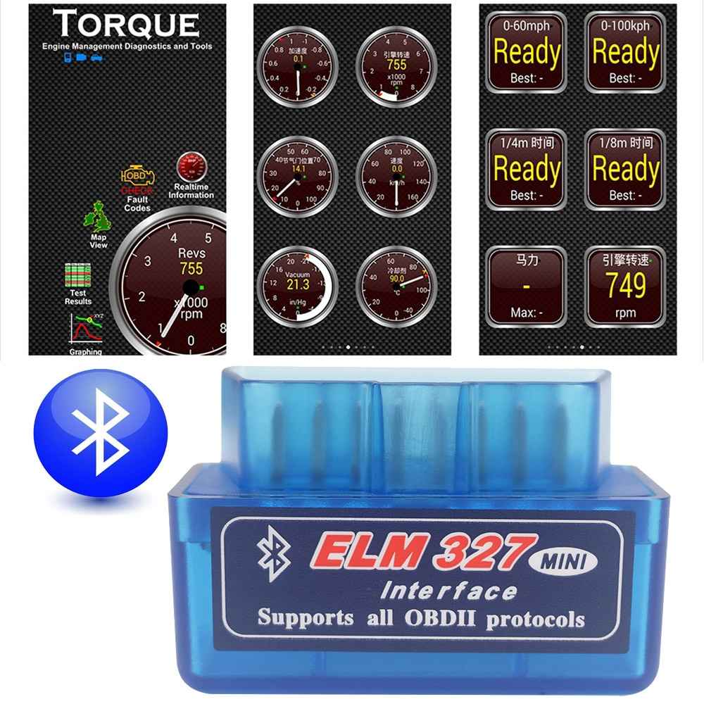 Herramienta de diagnóstico escáner Bluetooth OBD2 Elm327 V1.5 para Nissan, Skoda Dodge Charger y Challenger X Trail Juke Teana Superb Octavia