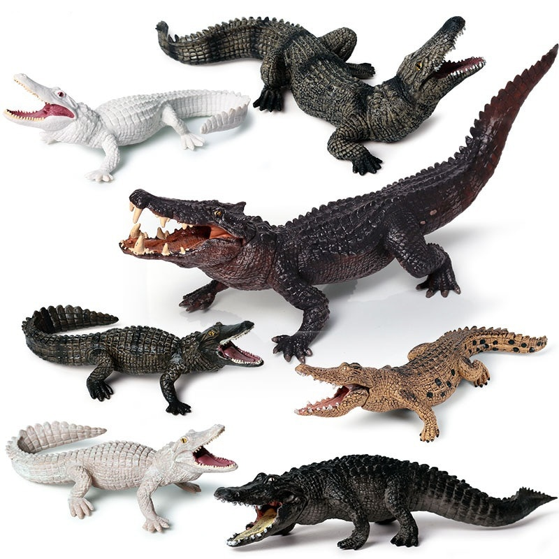 simulation pvc figure series of marine animals toys decoration new boxed toy model gift 13pcs set New Simulation Crocodile Animal Model Figure Toy Chinese Alligator Nile Crocodile Action Figure Kid Collect Decoration Toy Gift