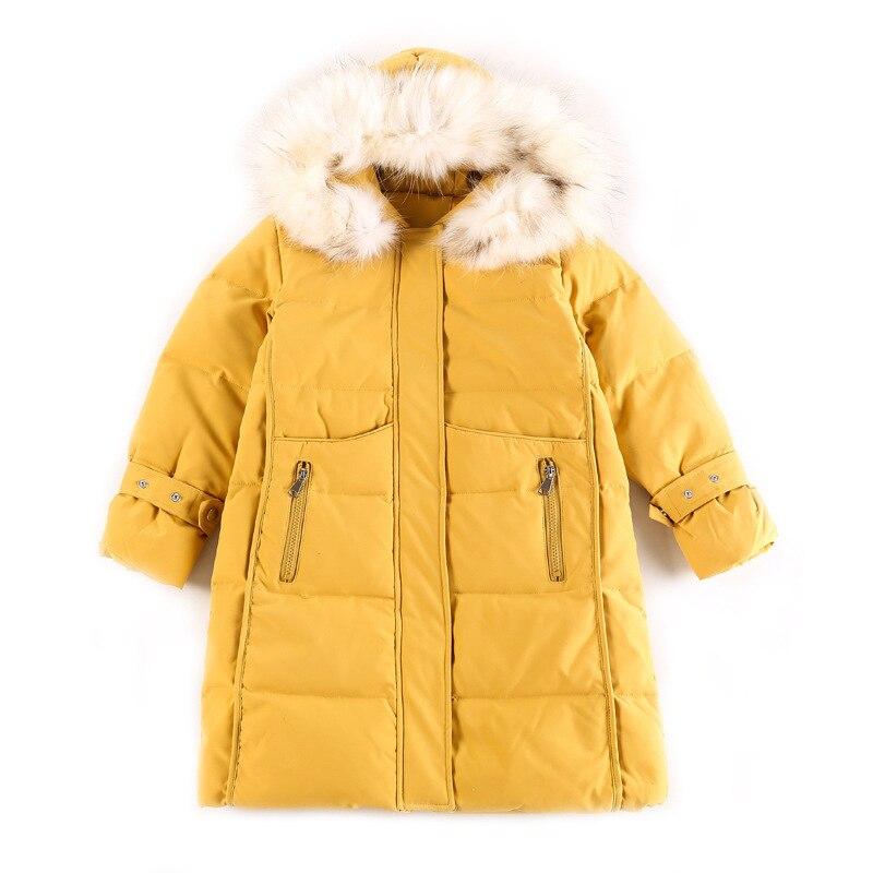 New 2020 Winter Fashion Kids Girl Cotton Coat Warm Baby Children Padded Parkas Fur Kid Teenager Thickening Warm Outerwear W503 enlarge