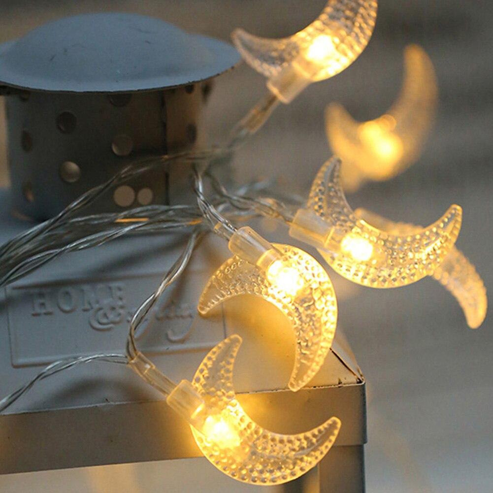 Más nuevo 20LED 2,3 M USB Luna Navidad Cadena de luz fiesta de inicio cumpleaños Festival decoración Cadena de luz