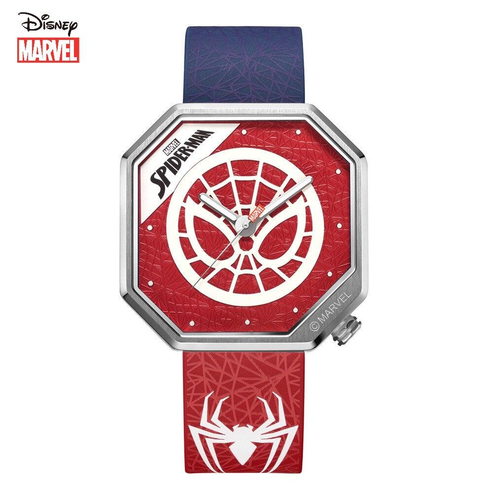 Relógio à Prova Disney Marvel Relógio Homem Aranha Luminosa Quartzo Nova Fita Moda Personalizado Dwaterproof Água