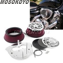 Pour Suzuki Boulevard M109RZ M109R2 M109R Boss moto haut débit filtre à Air dadmission en aluminium maille nettoyant Kit de couverture 2006-2019