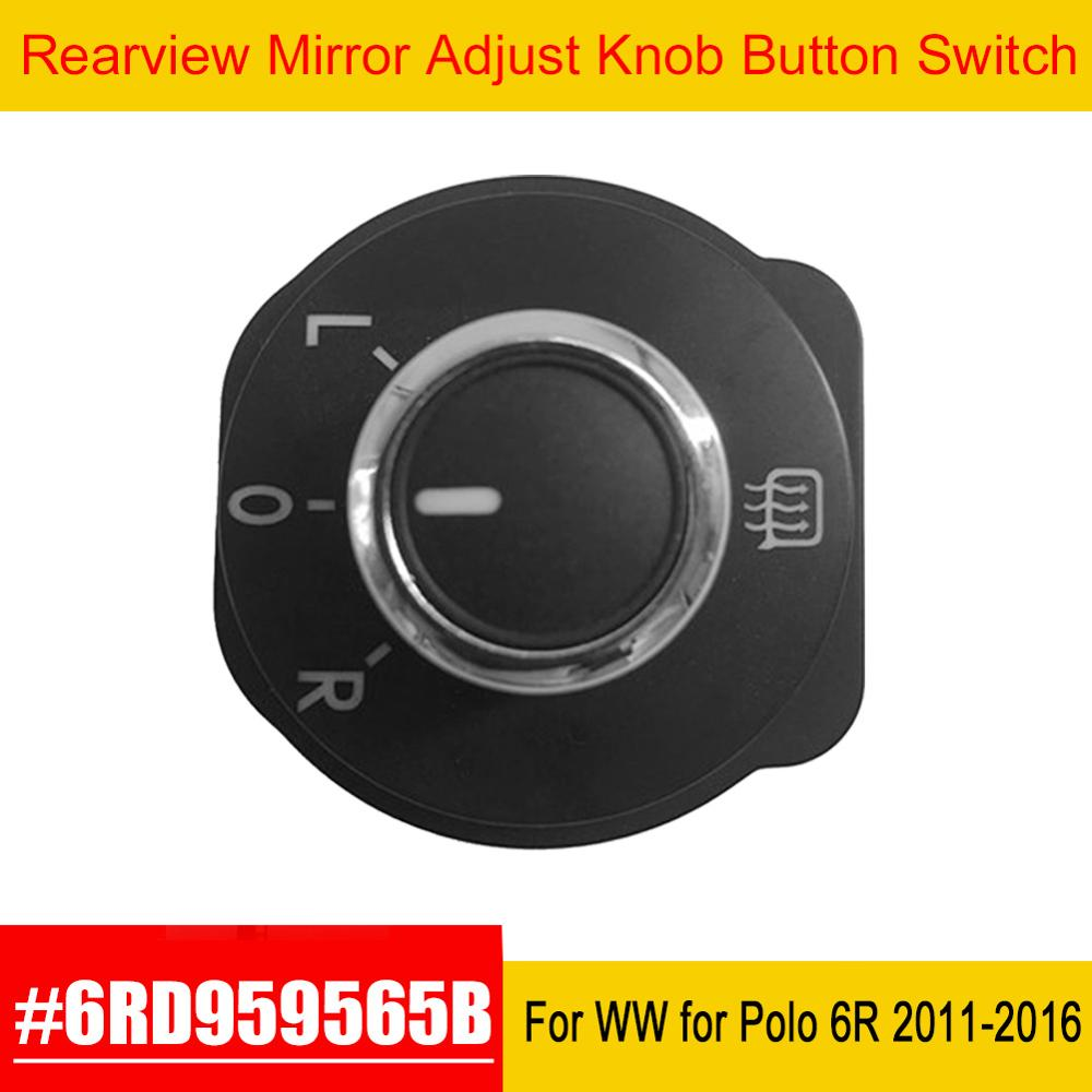 Auto espejo retrovisor ajuste botón interruptor para VW para Volkswagen para Polo 6R 2011 2012 2013 2014 2015 2016 6RD959565B