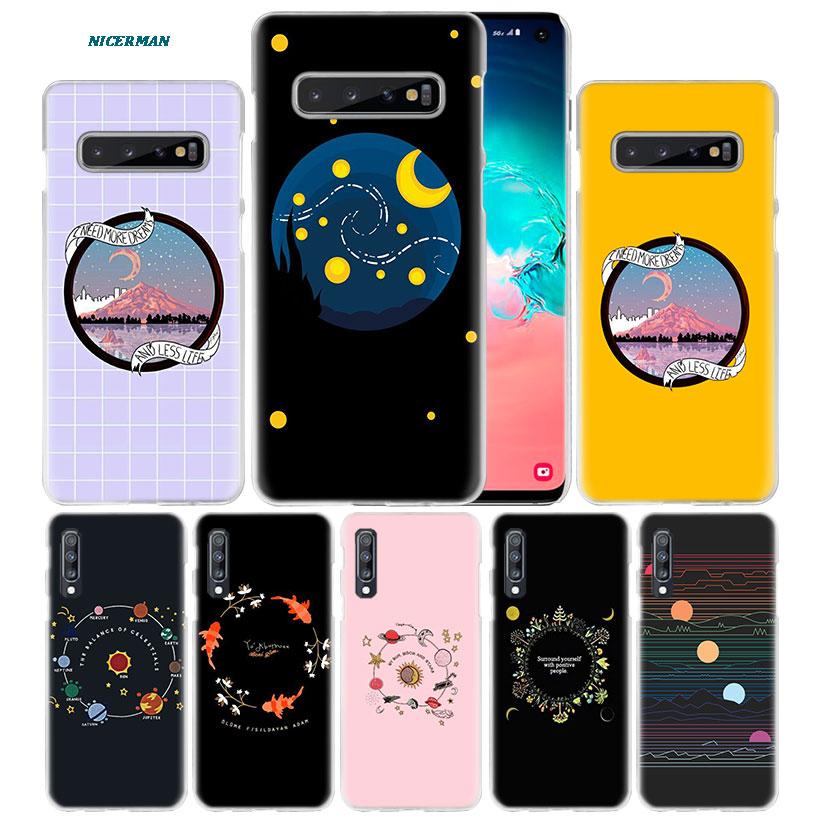Luna mar onda arte caso para Samsung Galaxy S10e S10 5G S9 S8 Nota 10 9 8 J4 J6 J8 2018 M40 M30s M20 teléfono duro Coque Sac