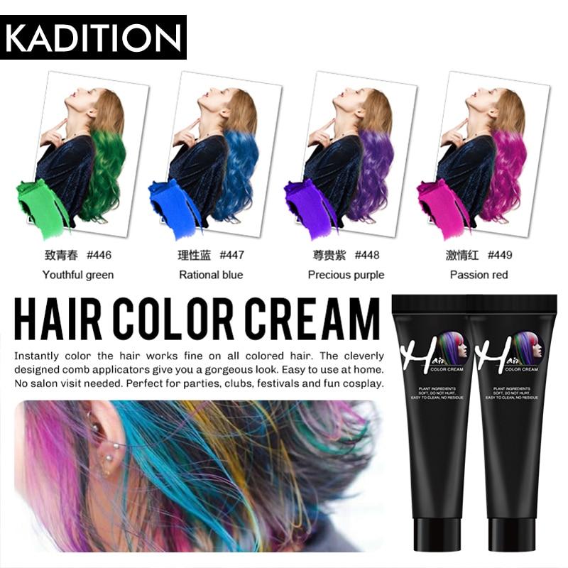 Tinte de pelo moda abuela gris tinte de pelo permanente DIY Color de pelo cera cabello Color crema temporal Gel estilo Unisex Color de pelo