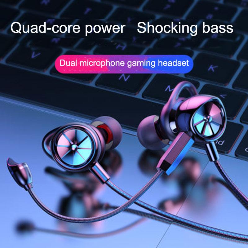 Langsdom HIFI Gamer السلكية في الأذن سماعة G200 مع ميكروفون مزدوج المحمولة Sweatproof باس سماعة ستيريو للموسيقى الألعاب
