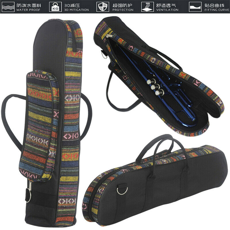 Nos Durable superior trompeta trabajo bolsa de caso impermeable de alta calidad bofetada caja instrumento bolsa