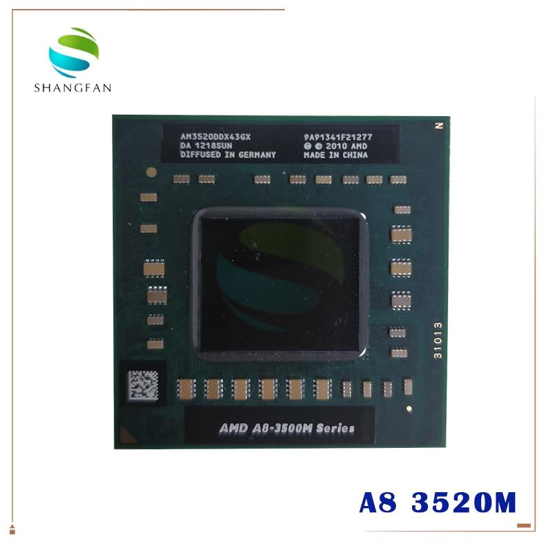 Ноутбук AMD CPU A8 3500M Series A8 3520M A8-3520m AM3520DDX43GX A8-Series Socket FS1 CPU 4M Cache/1,6 GHz/Quad-Core
