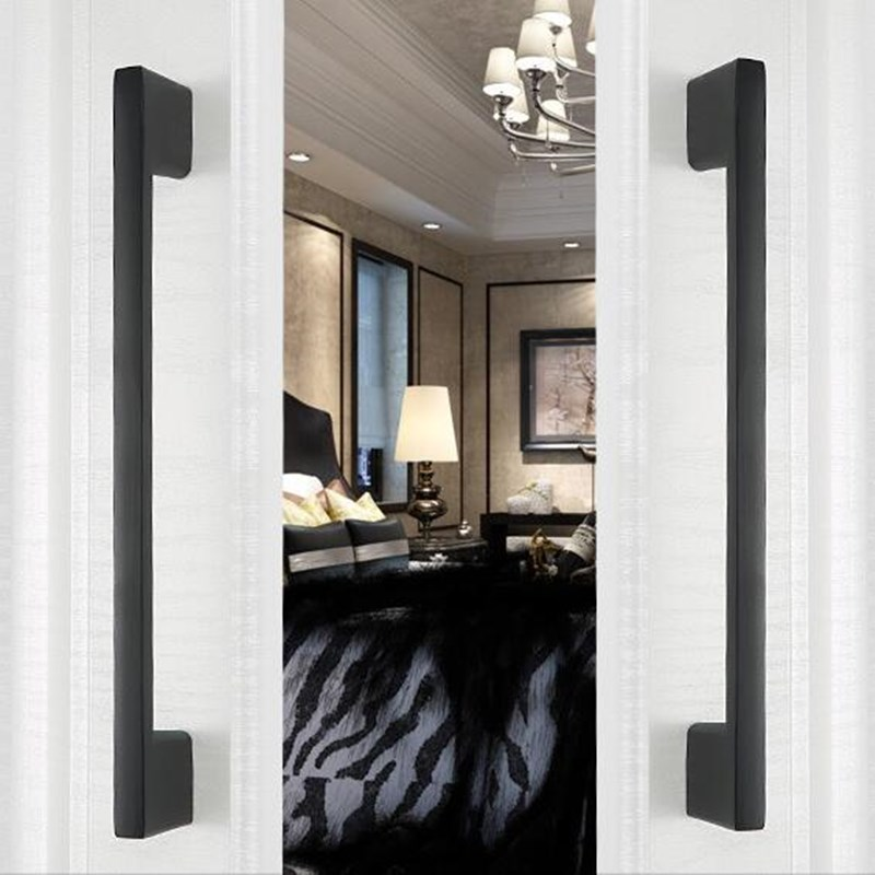 1 manijas de armario moderno KK & FING, tiradores de cajón de cocina de aluminio, tira de vidrio para gabinete puerta tira de muebles de mejora para el hogar