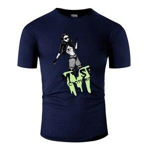 """Myse одежда с принтом-Badass Babe Мужская футболка """"комикс"""" человек короткий рукав 100% хлопок Топ Футболка"""