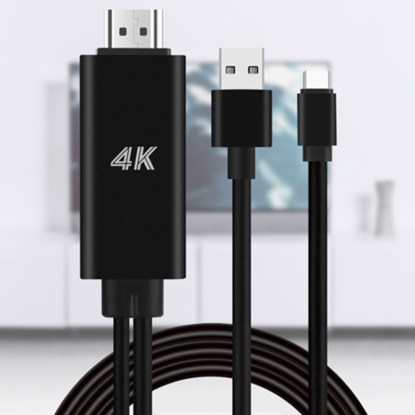 USB tipo C-C a 4K Cable HDTV TV Digital AV Adaptador para...
