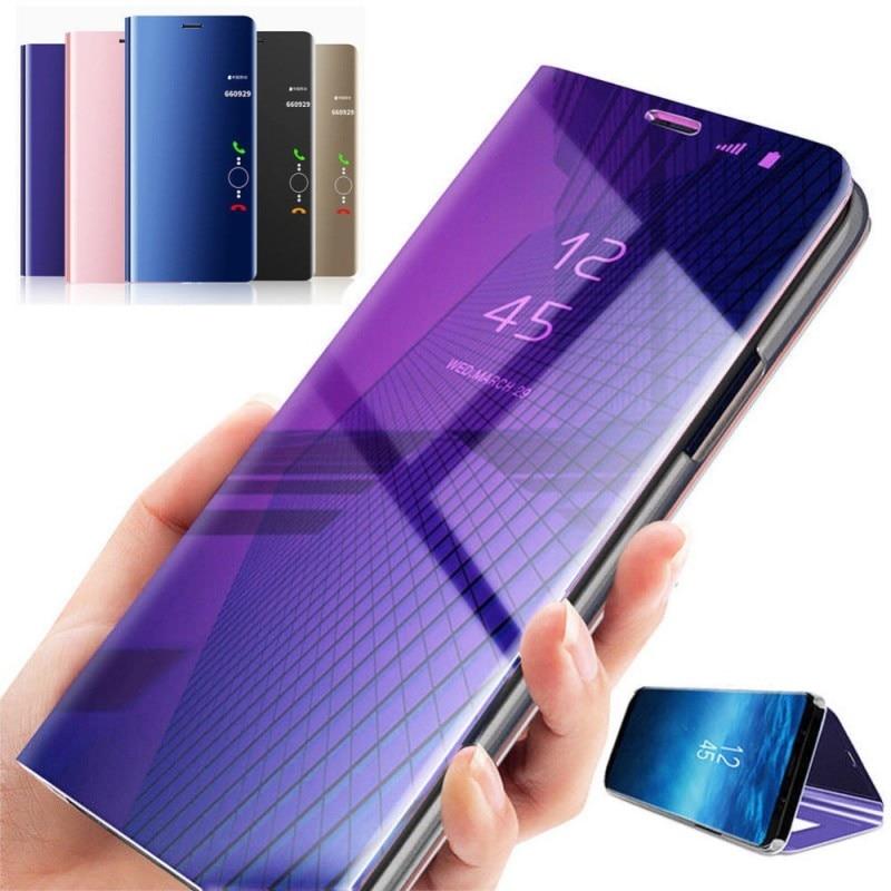 Smart Mirror Flip Case For Xiaomi Pocophone F1 Phone Case Protective Cover Fundas Capa Protective ca