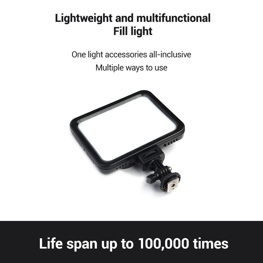 PAN'S SCHEME RGB Light Panel Color Change Video LED Lamp Portable Tripod Stand DSLR Camera Vlog Shooting Lighting Fill Light enlarge