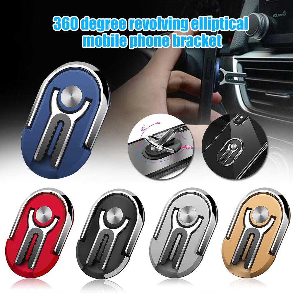 Soportes de Teléfono universal aleación ovalada 360 grados rotación de ventilación de coche anillo de dedo soporte para teléfono móvil