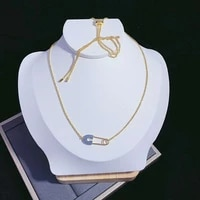 51 80cm high quality female personalized gold brooch necklace stylish minimalist clavicle chain for holiday and birthday