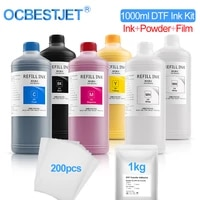 1000ml6 dtf ink kit pet film transfer ink for direct transfer film for pet film printing for epson l1800 200pc film available
