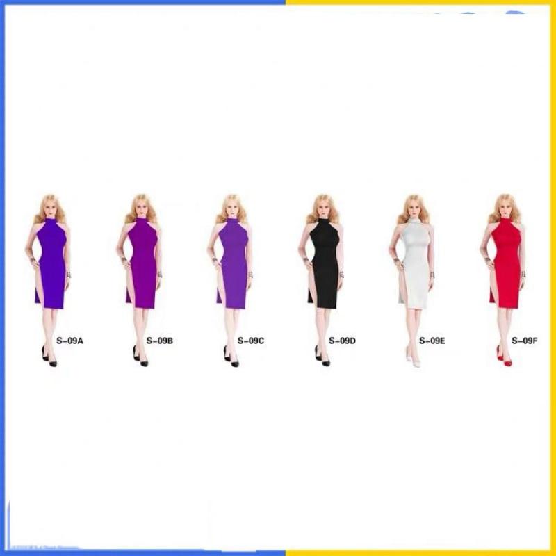 """SGTOYS 1/6 S-09 Split Kleid Kleidung F 12 """"Weibliche Phicen TBLeague Figur Körper Spielzeug"""