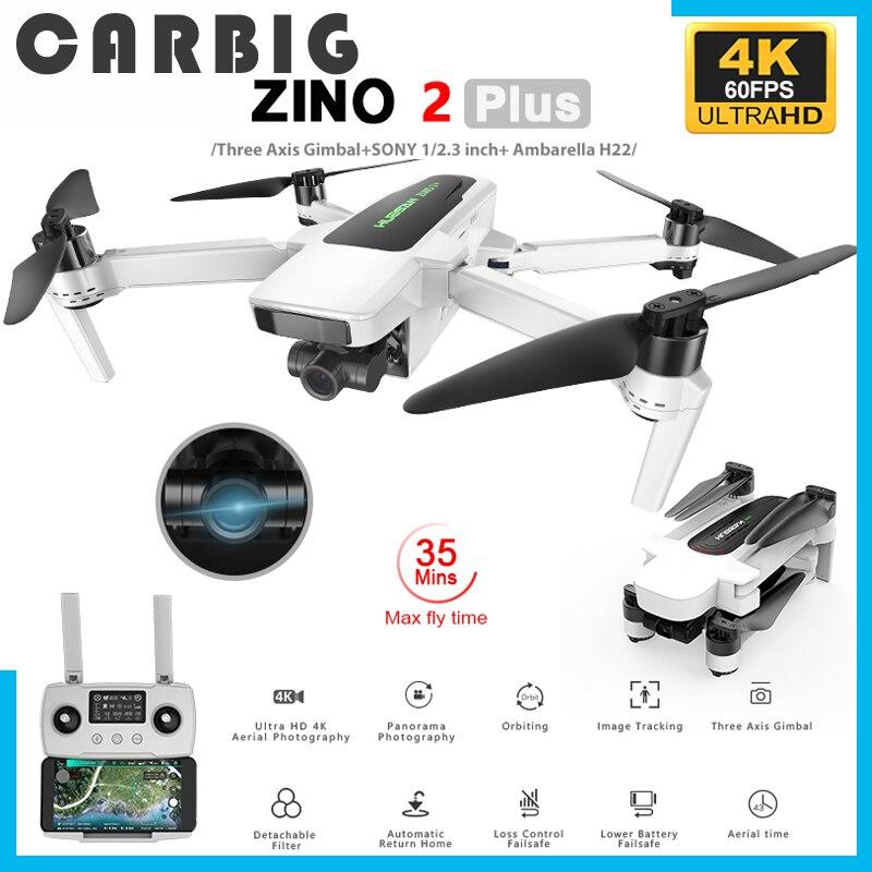 في المخزون Hubsan Zino 2 Plus + GPS الطائرة بدون طيار مع 4K 60FPS UHD واي فاي FPV كاميرا كوادكوبتر 3-محور Gimbal 9 كجم 35 دقيقة بدون طيار