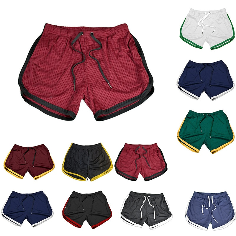 2020 Mens Sports Gym Athletic Shorts Middle trousers elastic band zipper pocket sports man middle soft cotton blend Running