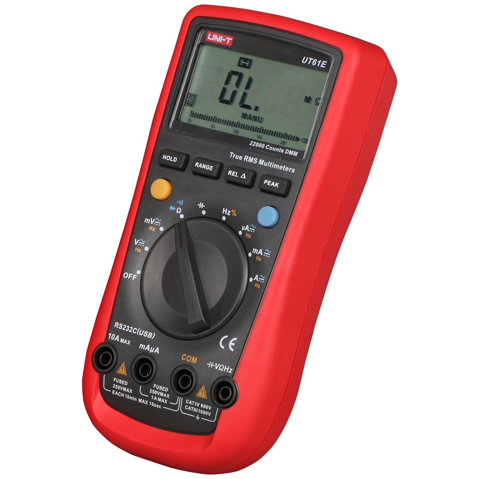 UNI-T Tester Digital Multimeter Profesional UT61E True RMS Auto Range Temperature Voltage Ammeter Count 6000 DC AC Capacitor