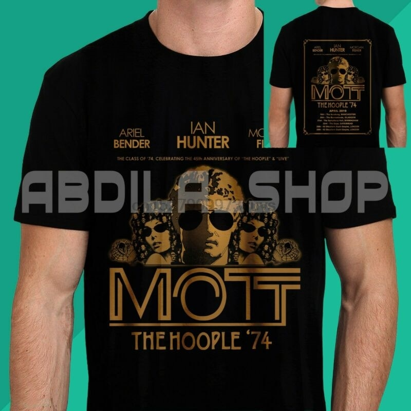 New Mott The Hoople '74 Celebrating The 45Th Anniversary Live Tour 2019 T-Shirt