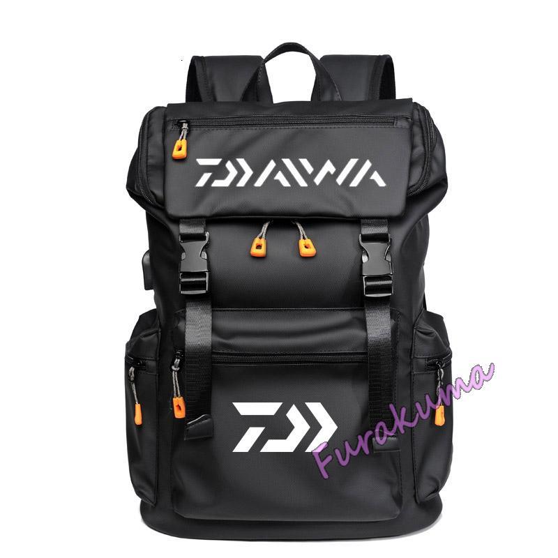 Мужской многофункциональный рюкзак DAIWA с USB-зарядкой, водонепроницаемый качественный ранец для рыбалки, Путешествий, Походов, занятий спортом на открытом воздухе