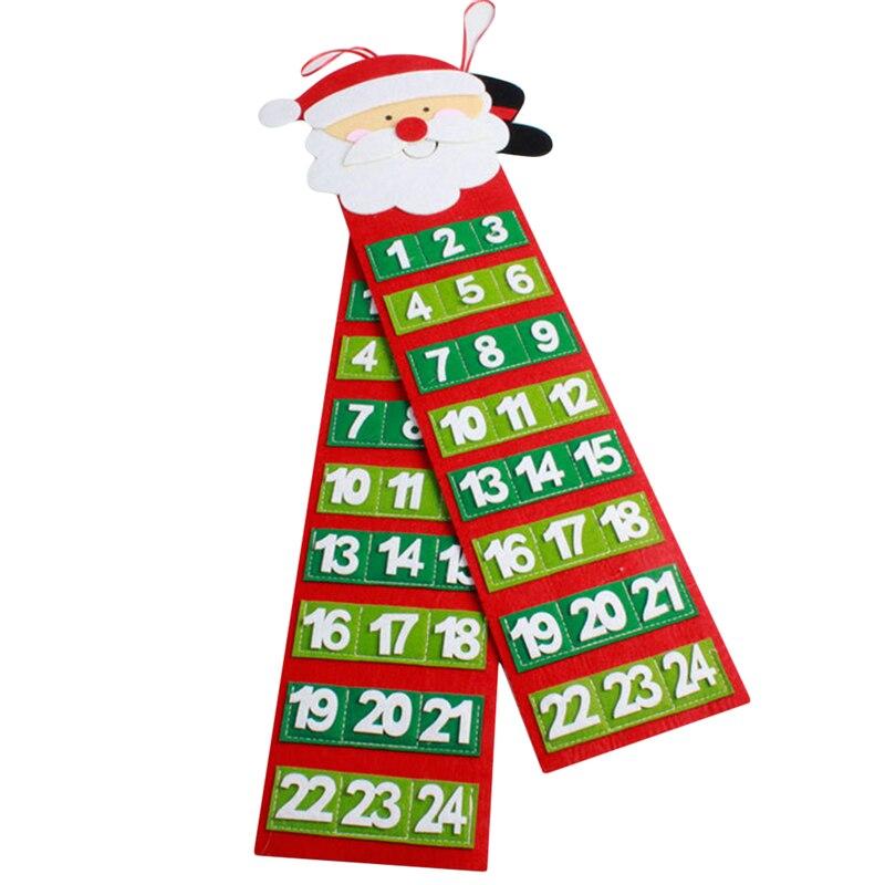 Natal calendário contagem regressiva casa festa loja decoração parede pendurado papai noel calendário família presente de natal