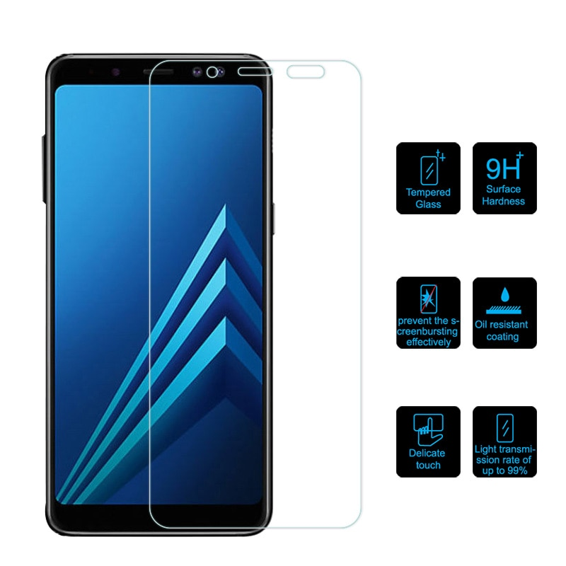 Vidrio Templado 9H 0,26 MM para Samsung Galaxy J3 J4 J6 J8 2018 película protectora de pantalla para Samsung A6 A8 Plus 2018 vidrio Protector