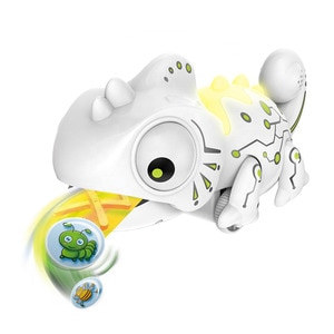 RC Chameleon Lizard Pet 2.4G Smart Simulation Animal Robot Kids Gift Funny Toys Music Color Changeable Remote Control Reptile