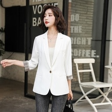 Fall 2021new Retro Fashion One Button Professional Small Suit Trendy Suit Collar Short Suit Top for