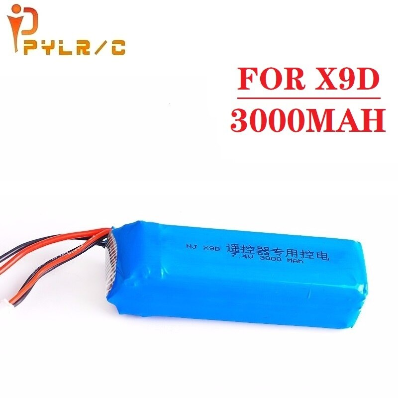 Recarregável para Frsky Atualize Bateria Lipo Taranis X9d Mais Transmissor 2s Brinquedo Acessórios 1 Pçs 3000mah 7.4v