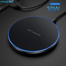 30W Fast Wireless Charger Dock For Samsung S21 S20 S10 Note 20 9 Type C Qi Induction Charging Pad fo