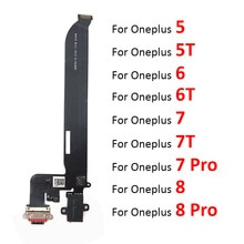 New For Oneplus 5 A5000 5T A5010 6 6T 7 7T 8 Pro USB Charging Port Board Flex Cable Connector with E
