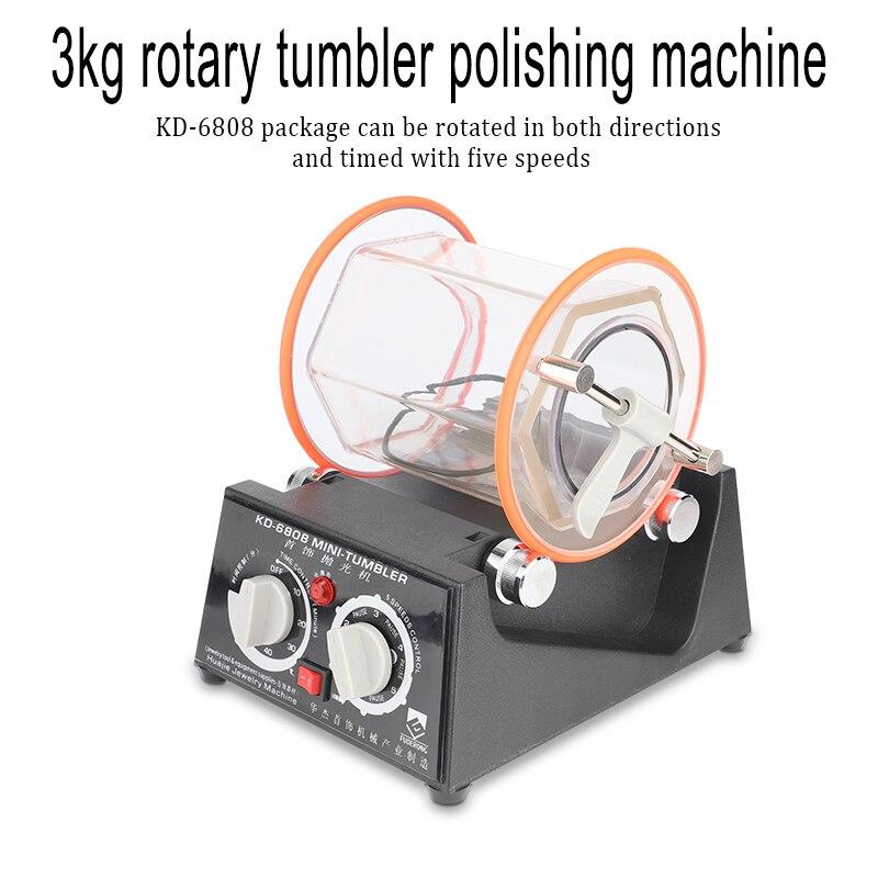 NEW 3 kg Drum Polishing Machine, Jewelry Rotary Tumbler, Tumbling Mini-Tumbler Rotary Tumbler Polishing Machine Jewelry Polisher