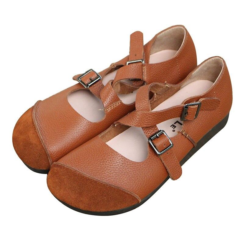 2021 خياطة جوفاء الجلود أحذية نسائية