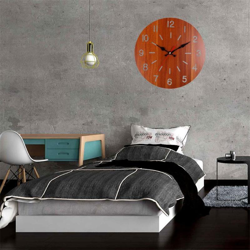 Relógio de parede europa retro casa barra quarto decoração amplo escopo aplicação prática economia circular pendurar relógio de madeira