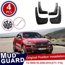 for BMW X6 E71 F16 2008~2019 Car Mud Flaps Mudguard Splash Guards Fender Mudflaps Accessories 2011 2012 2013 2014 2015 2016 2017