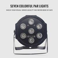 7x12W RGBW 4IN1 LED PAR dmx512 disco lights Colorful stage dyeing lamp flat par light wall washer 7*12W PAR